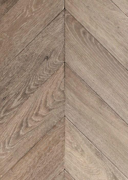 Natural Solid Oak Chevron Parquet Flooring
