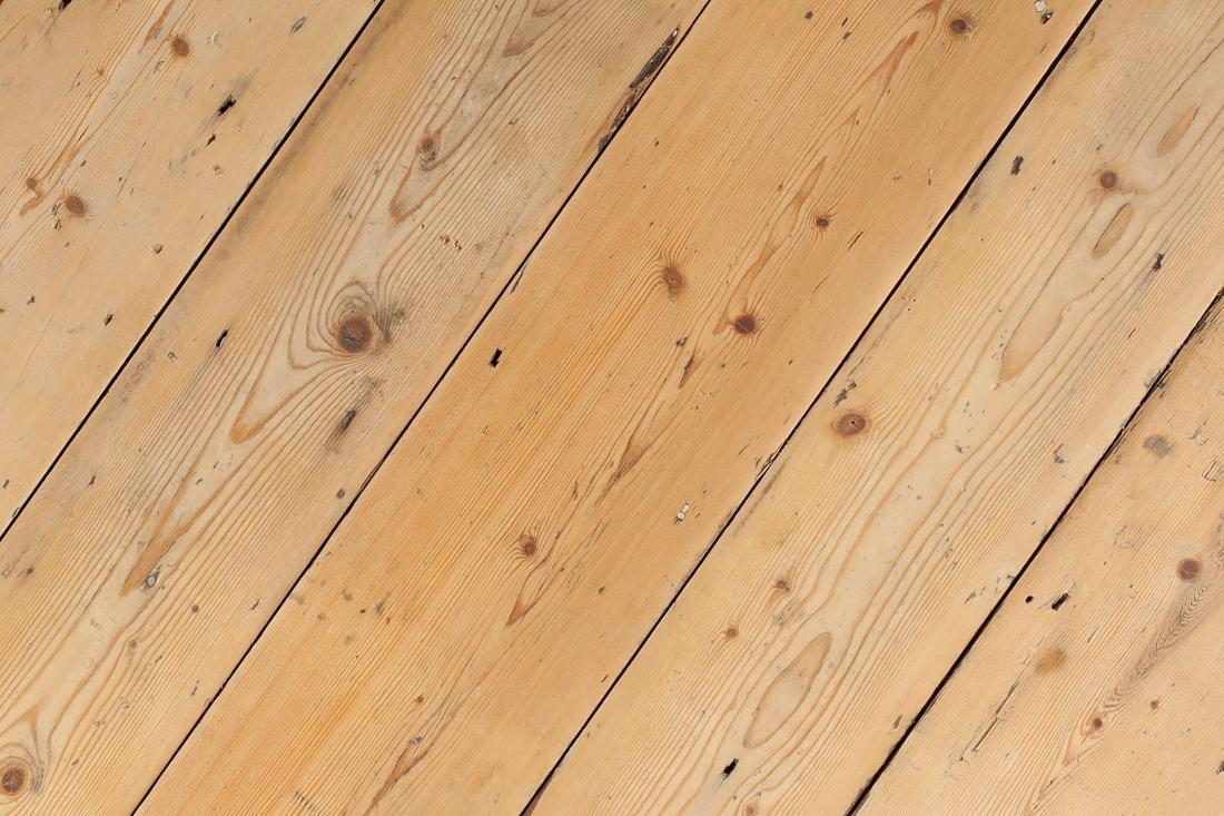 Original Victorian Pine Floorboards