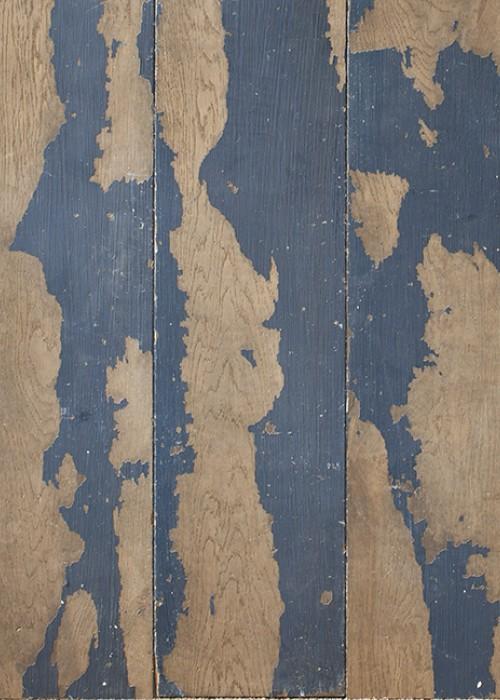 blue painted engineered oak flooring