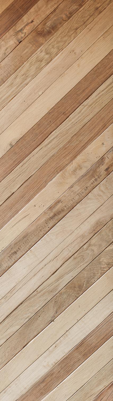 Mid Century French Oak:  Reclaimed Strip Cladding