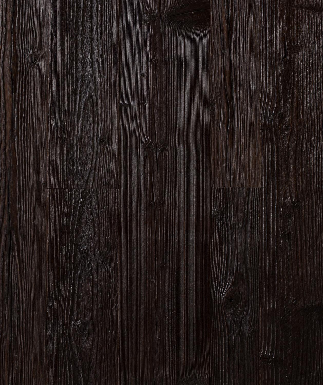 Reclaimed Engineered Weathered Pine: Black