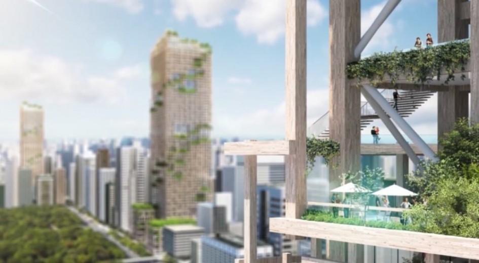 World's Tallest Wooden Skyscraper Set for Tokyo in 2041