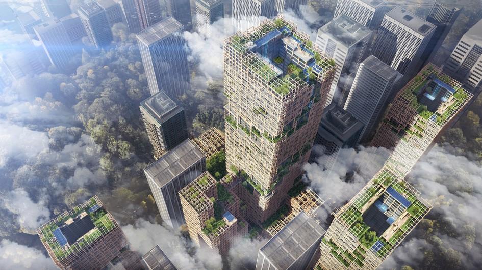 Image World's Tallest Wooden Skyscraper Set for Tokyo in 2041
